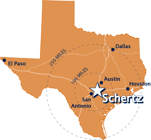 Map Of Schertz Texas